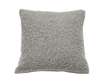 "Pillow Boucle, 18""x18"", LIGHT GREY"