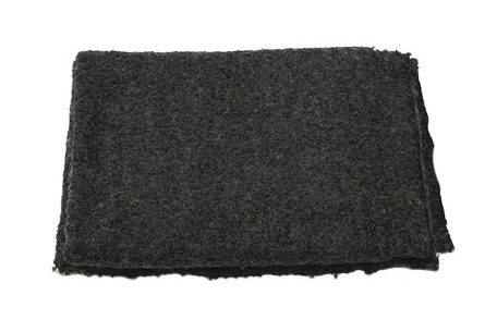 THROW BOUCLE, CHARCOAL