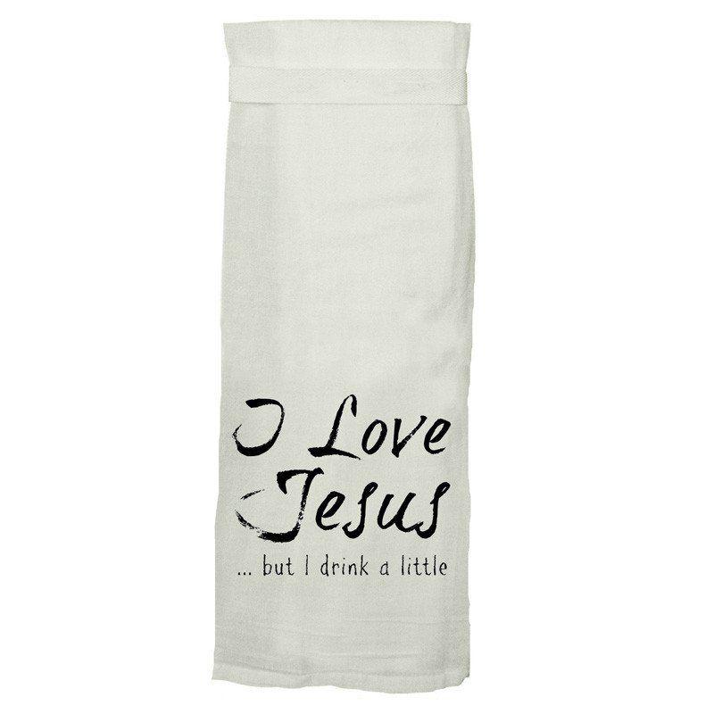 Jesus Drinks Kitchen Towel