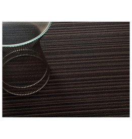 Shag Skinny Stripe Mocha Utility Mat (24'' x 36'')