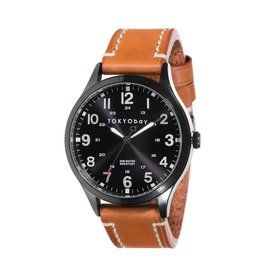 MASON WATCH, BLACK W/ TAN