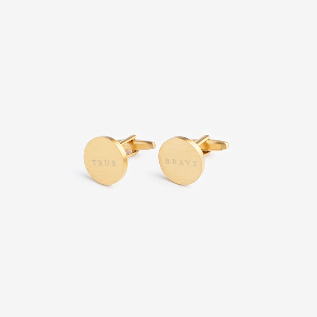 BRAVE AND TRUE BRASS CUFFLINKS
