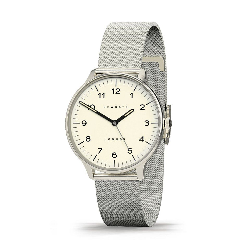 THE BLIP, CREAM WITH MILANESE STRAP