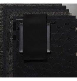 Single Sided Linen Napkin, Black