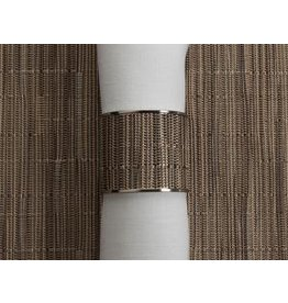 Chilewich Bamboo Stainless Steel Napkin Ring DUNE 1.5 Dia.