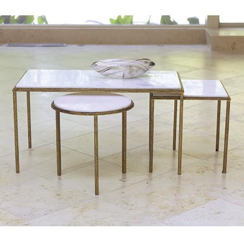 Hammered Gold Round Table