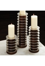 Short Stacked Plate Candle Holder- Large