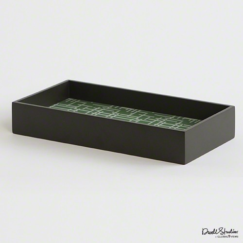Criss Cross Laquered Wood Tray
