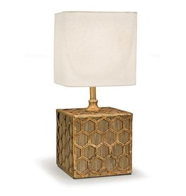Gold Honeycomb Mini Table Lamp
