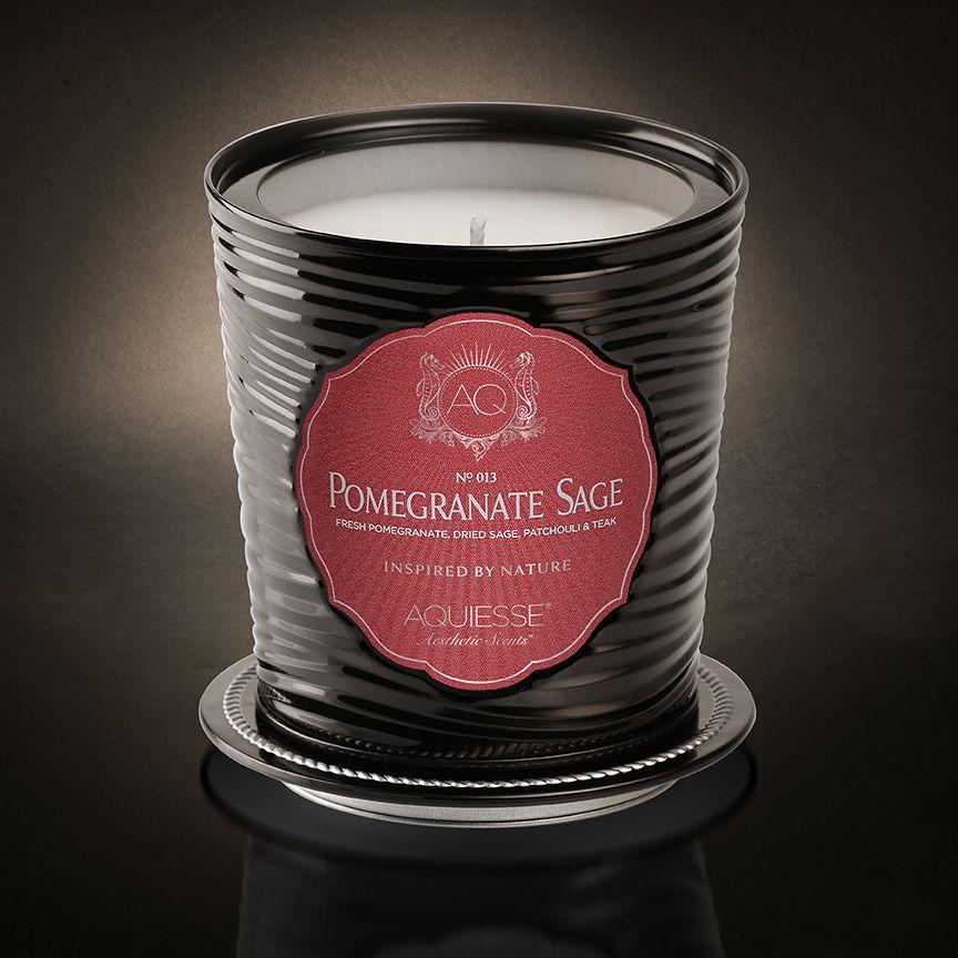 POMEGRANATE SAGE Tin Candle