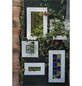"Zinc Wall Planter - 14.5-3.5"""