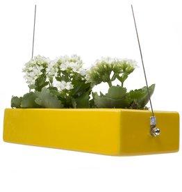 Ragna Hanging Planter, Yellow