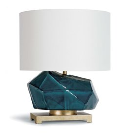 Peacock Ceramic Geode Table Lamp