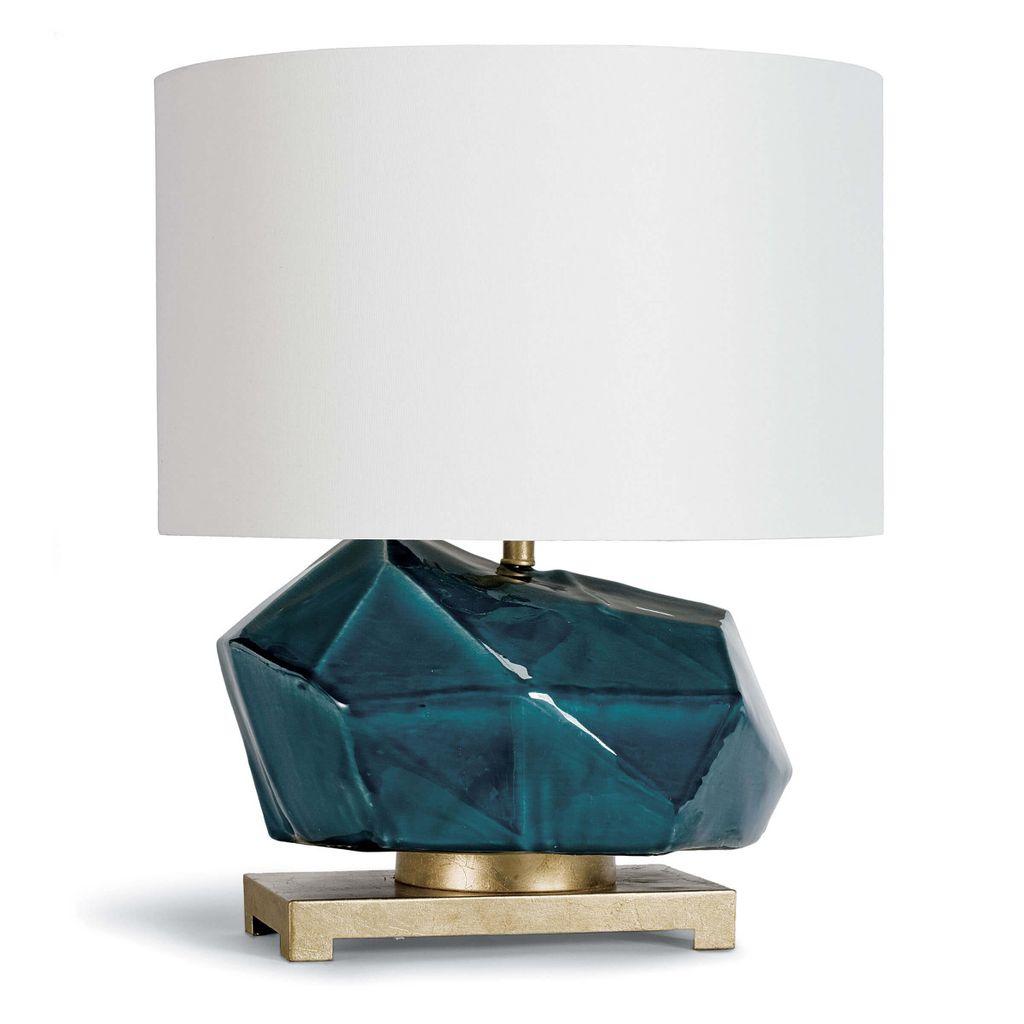 Peacock Ceramic Geode Table Lamp