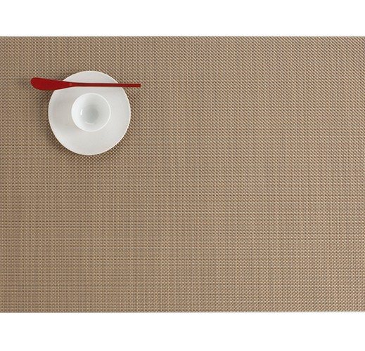 "14""x19"" Mini Basketweave Table Mat, New Gold"