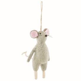 "FELT MOUSE ORNAMENT 6.5""H"