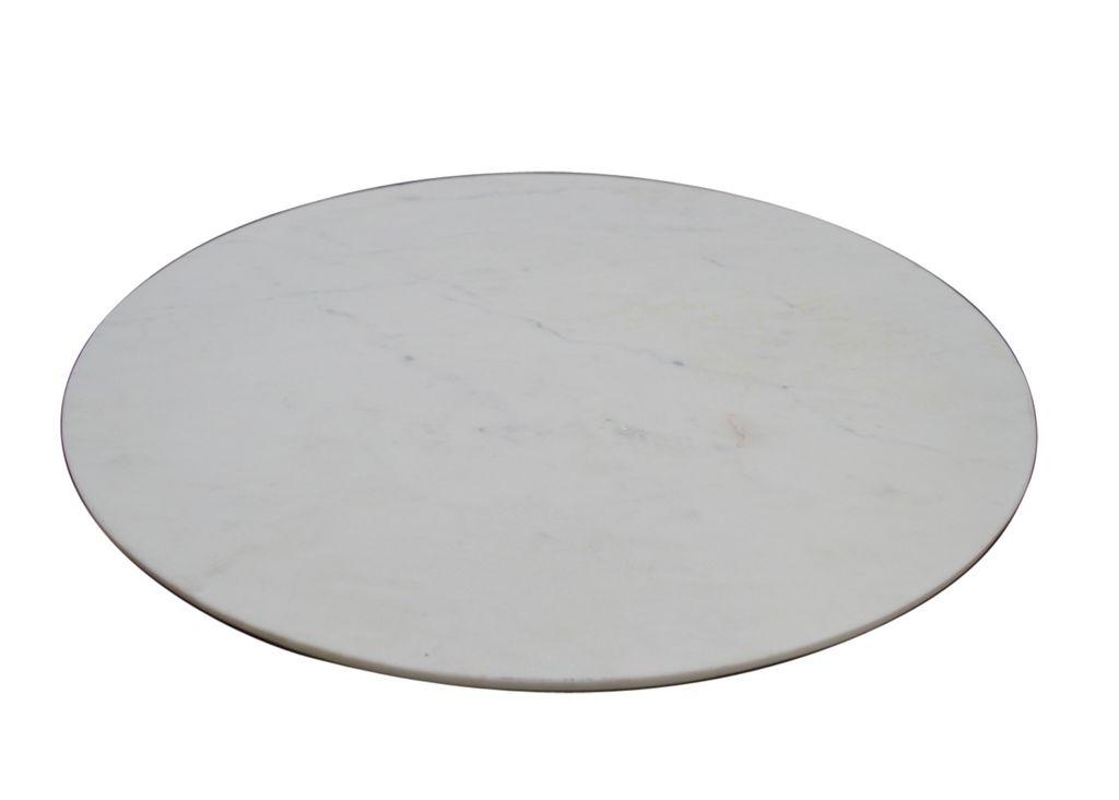 Large White Marble Lazy Susan