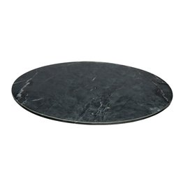 Large Black Marble Lazy Susan
