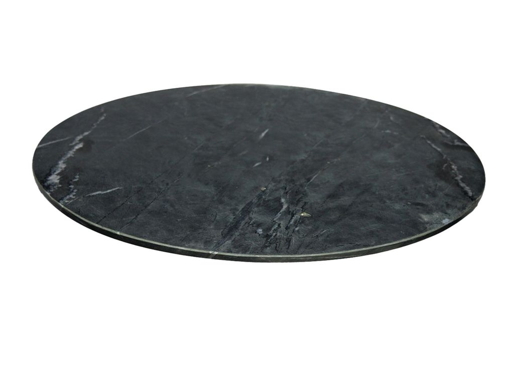 Large Black Marble Lazy Susan