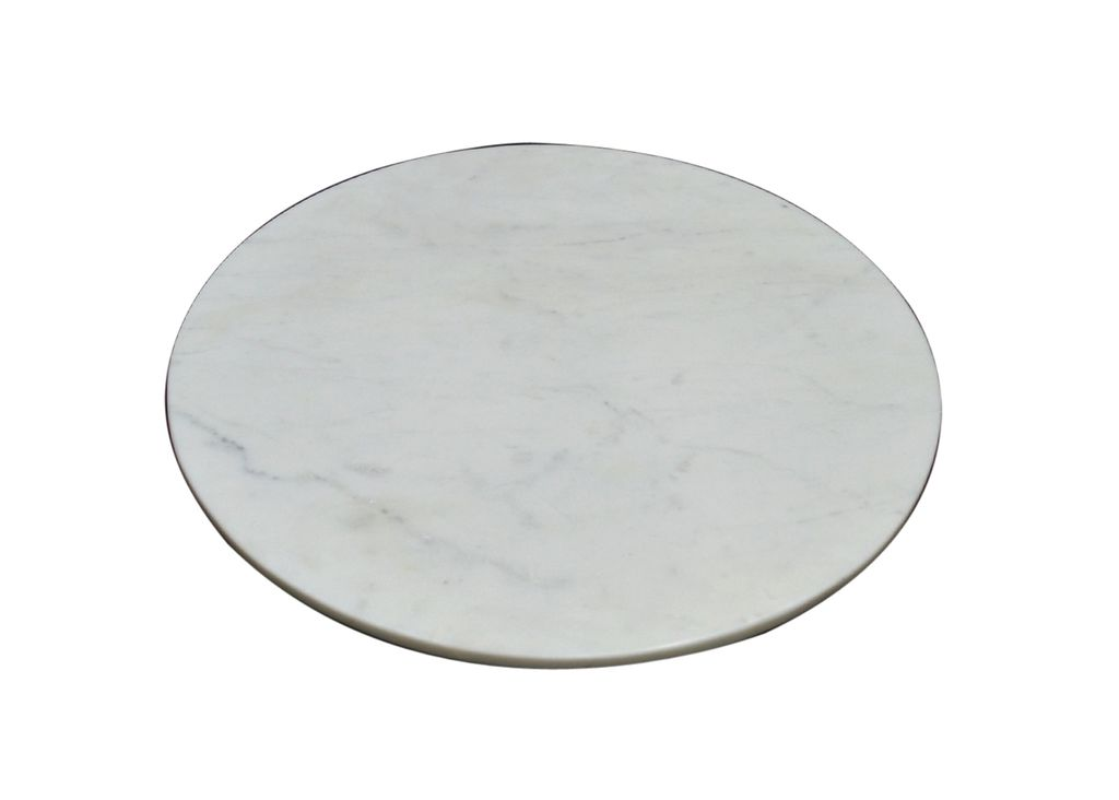 Marble Charger Plate - White