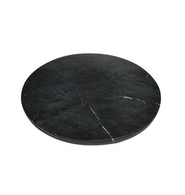 Marble Charger Plate - Black