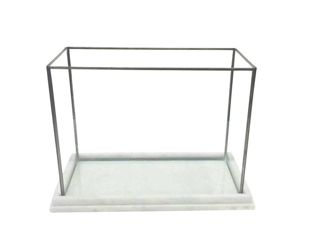 Marble Glass & Iron Display Box/Terrarium