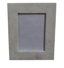 Medium 4X6 Marble Frame White