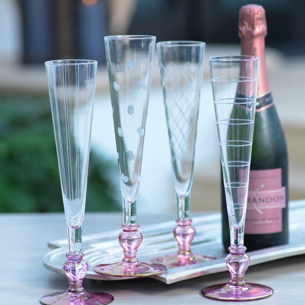 Tuileries Champagne Flute, Aubergine