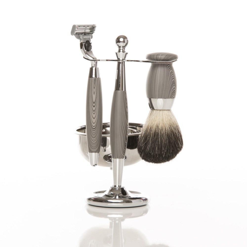 Roosevelt Shaving Set, Gray