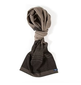 EAGAN HERRINGBONE WOOL SCARF, PEWTER