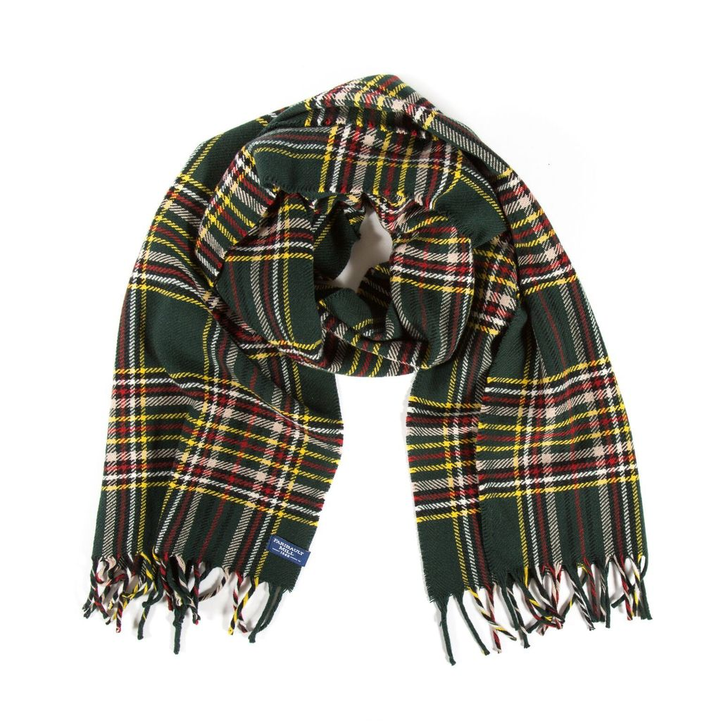d45a67357 STEWART PLAID WOOL SCARF, GREEN - Considered items for a considered  lifestyle