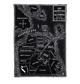 VINTAGE CITY MAP WOOL THROW - SAN FRANCISCO
