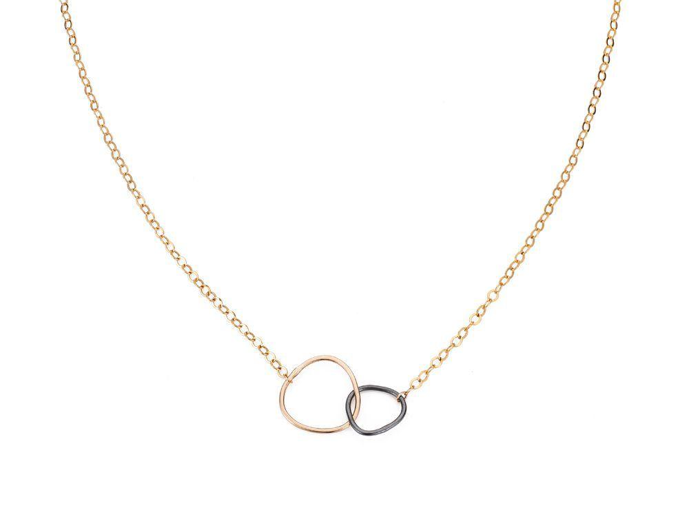 Black & Gold Interlocking Necklace