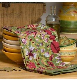Jardin Tea Towel, Red and Green