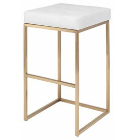 Chi Counter Stool - White/Gold