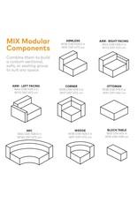 Mix Modular Sectional, Wedge