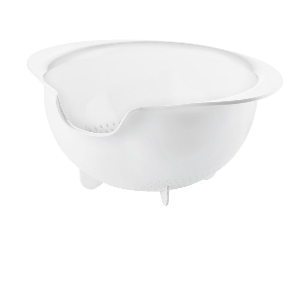 All-in Easy Pouring Colander, White