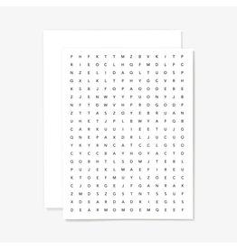 Letterpress Card: Wordsearch