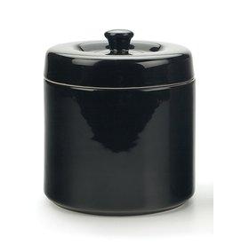 Stoneware Grease Keeper, Black