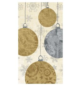 Paper Products Design HOLIDAY ORNAMENTS GUEST TOWEL