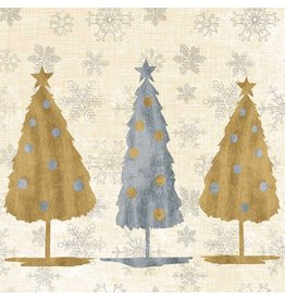 Paper Products Design HOLIDAY TREES NAPKINS