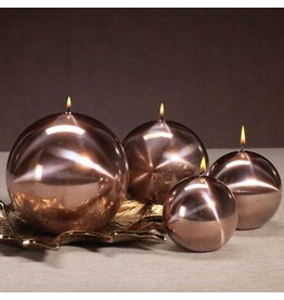Titanium Ball Candle-Rose Gold 4in