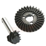 HOT RACING This is the Hot Racing 27T/8T HD 0.9 Module High Pinion Bevel Gear Set.   FEATURES:  Compatible with Axial AR44 axles Hardened steel for increased strength Provides over drive for the front axle   YOU WILL RECEIVE:  One 8T Bevel Gear One 27T Bevel Gear Hi