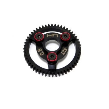 HOT RACING Hot Racing light weight hardened steel 52 tooth, 32 pitch (0.8 Mod) spur gear for the 1/10 Traxxas Bandit, Rustler, 2WD Slash, 2WD Stampede, and Telluride vehicles   FEATURES:
