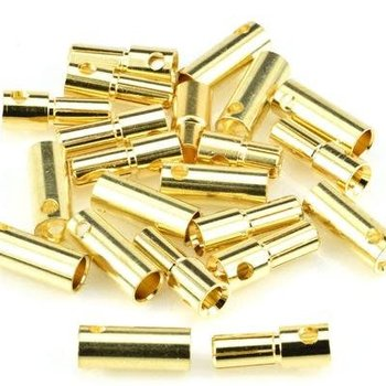 APEX Apex RC Products 5.5mm Male / Female Gold Plated Bullet Connectors Plugs - 10 Pair #1106