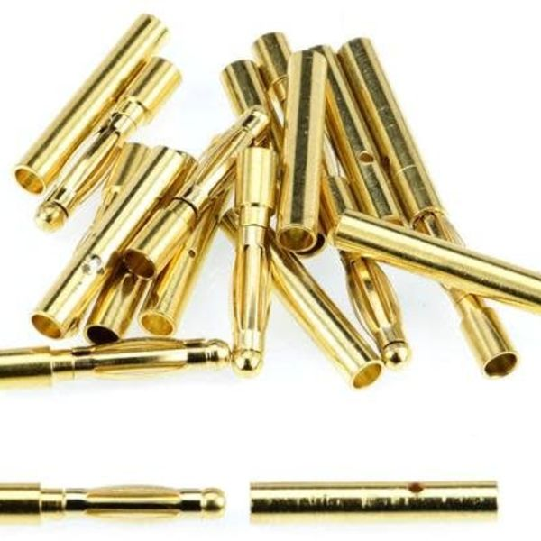 APEX 2.0mm Male / Female Gold Bullet Conn - 10 Pair #1100