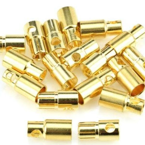 APEX Apex RC Products 6.0mm Male / Female Gold Plated Bullet Connectors Plugs - 10 Pair #1107