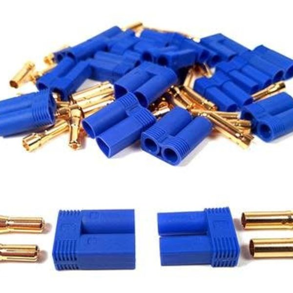 APEX Apex RC Products Male/Female EC5 Battery Connector Plugs - 10 Pair #1535
