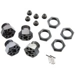 HPI 102530 Aluminum Wheel Hux Hub Set 24mm Gray (4)
