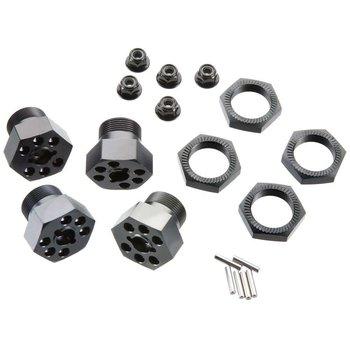 HPI 102530 Aluminum Wheel Hux Hub Set 24mm Gray (4)